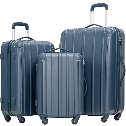 Merax Travelhouse 3 Piece Spinner Luggage Set with TSA Lock