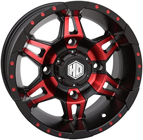 STI HD7 14 Wheels Red//Black 30x9.5 Outback Max Tires 9 Items 4x110 Bolt Pattern 12mmx1.25 Lug Kit Bundle