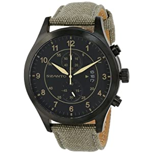 Szanto Men's SZ 1203 1200 Series Vintage-Inspired Military Pilot Watch