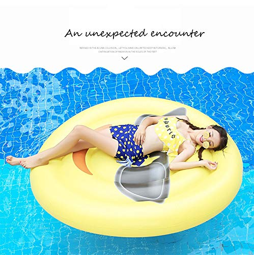 Giant Inflatable Emoji Cool Face Floating Row Adults Kids Summer Beach Toy Swimming Pool Party Lounge Round Raft-Yellow by WYL (Image #2)