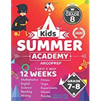 Kids Summer Academy by ArgoPrep - Grades 7-8: 12 Weeks of Math, Reading, Science, Logic, Fitness and Yoga | Online…