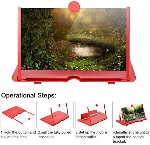 Mobile Mapping Soporte telef/ónico 3D Mobile proyector Smart Mobile Amplificador Pantalla de 12 Pulgadas.