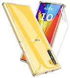 Thonzer for Samsung Galaxy Note 10 Case with Invisible Screen Protector,Clear Non Slip Scratch Resistant Shock Absorption TPU Bumper PC Hard Back Protective Case (Clear)
