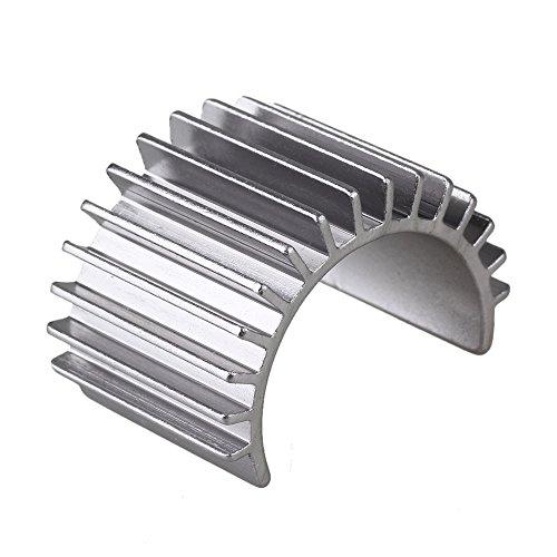 Aluminum Motor Heatsink (Mxfans 308003 Titanium Color Aluminum Alloy 380 Motor heatsink for RC 1:16 Car Motor Heat sink)