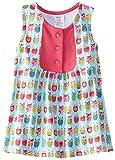 Zutano Little Girls' Owls Darling Mini Dress, Aqua, 3T