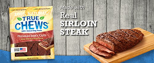 NATURAL BEEF SIRLOIN STEAK FILLET DOG CHEWS 12 OUNCES GRAIN FREE MADE IN USA