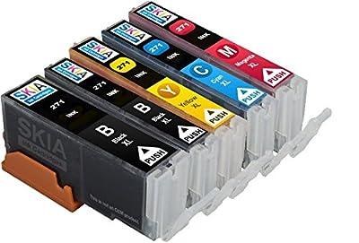 Skia Canon Compatible 5 Pack PGI-270 XL CLI-271 XL Ink Cartridge cli270 pgi270 for inkjet printer Pixma MG7720, MG6820, MG6821, MG6822, MG5720, MG5722,MG5721 271xl 270xl