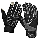 SLB Cycling Gloves - Touchscreen Waterproof Anti-Slip Cycling Gloves for Men Women for Cycling/Running/Climbing(Grey, Midium)