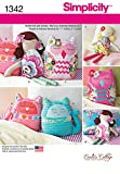 Simplicity Creative Patterns 1342 17-Inch Stuffed Dolls and 9-Inch Stuffed Animals Sewing Patterns, One Size