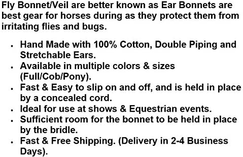 COB FULL PONY EAR NET CROCHET FLY VEIL EQUESTRIAN HORSE WITH CRYSTALS PINK