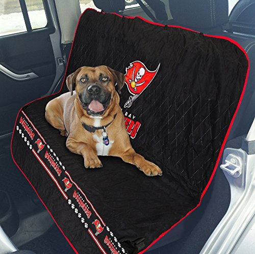 Pets First NFL CAR SEAT Cover - Tampa Bay BUCCANERS Waterproof, Non-Slip Best Football Licensed PET SEAT Cover for Dogs & Cats.