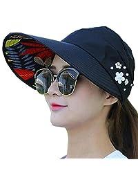 Flyou Sun Hats Outdoor UV Protection Wide Large Brim Cap Beach Visor Foldable