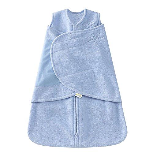 HALO SleepSack Micro-Fleece Swaddle, Baby Blue, Small by Halo
