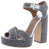 Laurence Dacade Women's Rosange Platform Sandals, Silver, 38 M EU