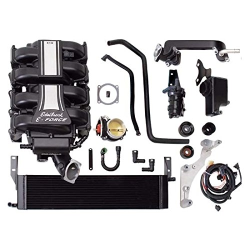 Edelbrock 1585 E-Force Stage-3 Pro Tuner Systems Supercharger Kit 2300 TVS 646+ HP/646+ Torque Incl. Supercharger/Manifold Assembly/Plug And Play Harness/Hardware w/Tuner E-Force Stage-3 Pro Tuner Systems Supercharger Kit