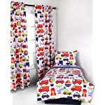 Transporation-Multicolor-4-pc-Todler-Bedding-Set