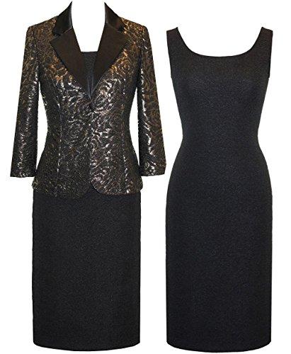 Plus Size Alex Evenings 425655 Dress --Size: 20 Color: Black