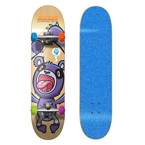 SkateXS Beginner Panda Street Kids Skateboard (Best Beginner Skateboard For Kids)