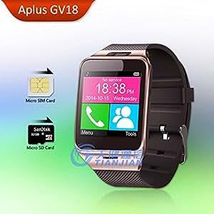 Desgaste ARBUYSHOP Bluetooth inteligente reloj Android Aplus GV18 SmartWatch con Tarjeta SIM inteligente relojes impermeables móviles Smartwatches