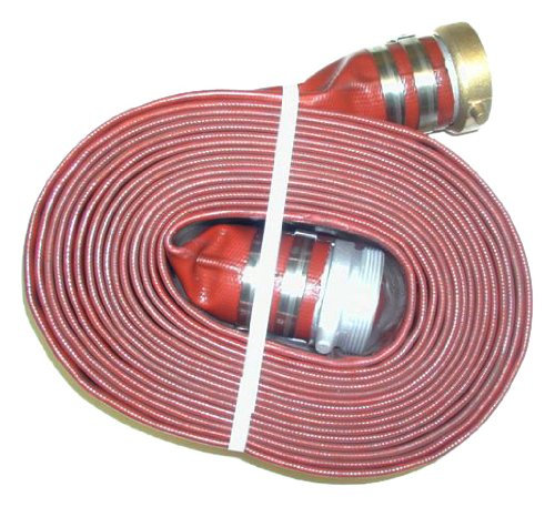 JGB Enterprises Eagle Hose Eagleflo Eagle PVC Discharge Hose Assembly, Red, 1.5