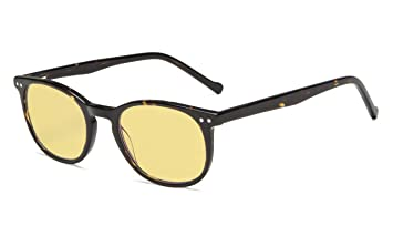 c1b2f1c2a1a Eyekepper Blue Light Blocking Computer Reading Glasses-Yellow Tinted Lens  Readers (Tortoise Acetate Frame