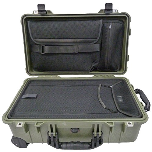 Silver /& Red Pelican 1510 case with Grey Dividers /& mesh Lid Organizer.