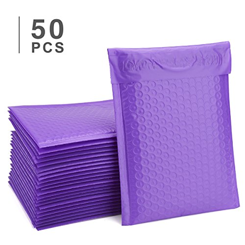 Fu Global Purple Bubble Mailer 6x10 #0 Self Seal Padded Envelopes Pack of 50 by Fuxury