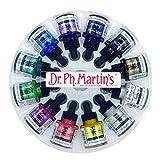 Dr. Ph. Martin's Iridescent Calligraphy Color Bottles, 1.0 oz, Set of 12 (Set 1)