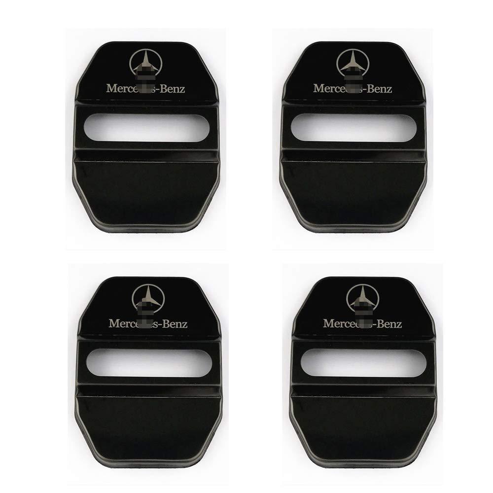4pcs verrous de Porte de Voiture en Acier Inoxydable Couvercle de Protection pour Mercedes Classe GLK Classe S Maybach Classe A//C//CLA//GLA//G//M//S//SL AMG,Bleu