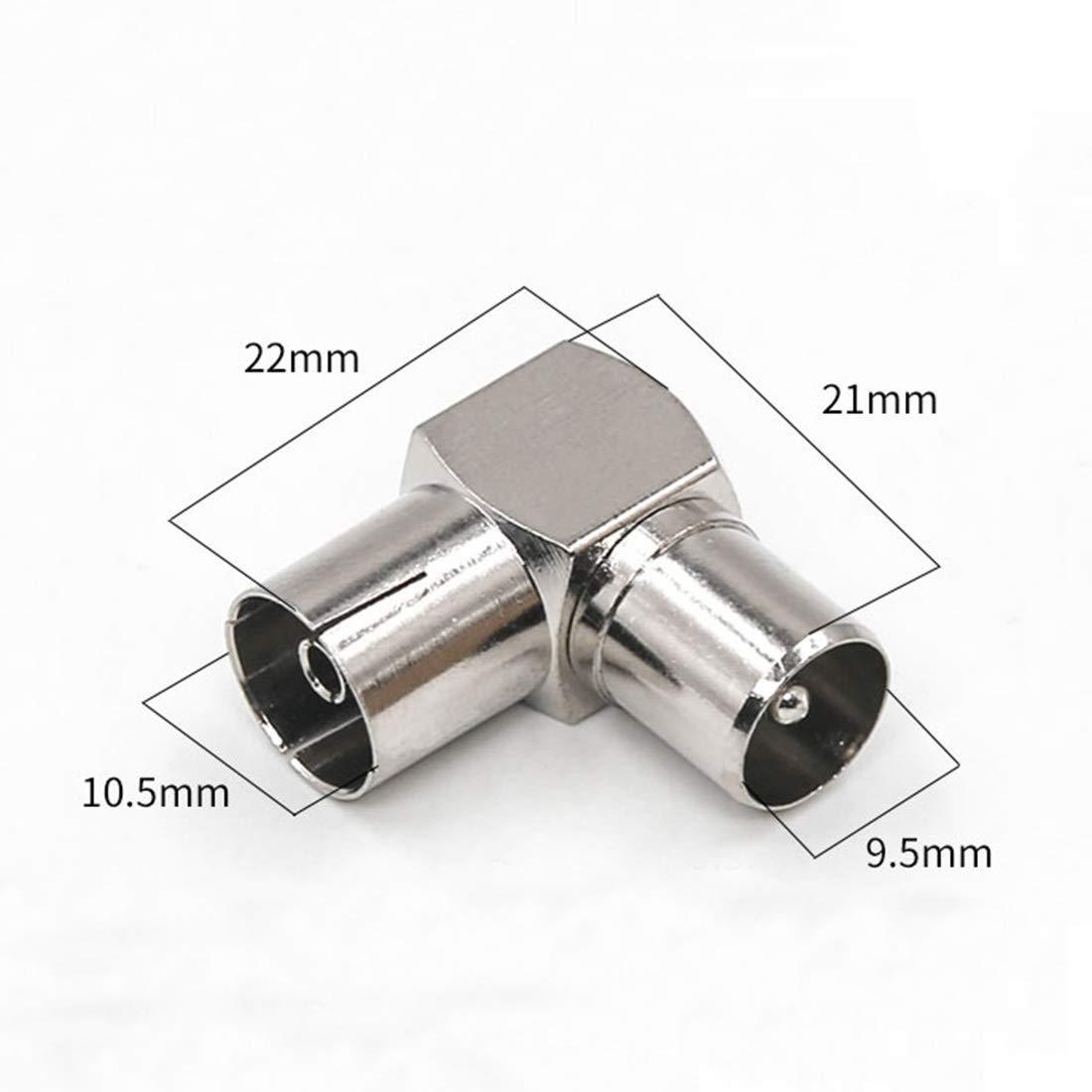 coaxial F Type Connecteur M/âle vers RF TV Antenne M/âle Fiche c/âble Blanc 2 m Plaqu/és Or 2 m/ètre//2m