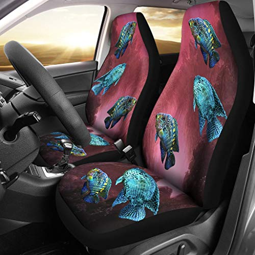 - Dog on designs Jack Dempsey Fish Print Car Seat Covers