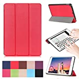 New iPad 9.7 2017 Case ,[Multi-angle Stand] PU Leather Ultra Slim Lightweight Smart Shell Shockproof Protective for Apple iPad 9.7' 2017 Model -Red