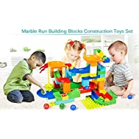 Chocozone Marble Run Track 248 Piece Marble Maze Building Sets Challenge Levels for STEM Learning, Educational Building Blocks Toys for 6 Years Old (Multicolor)