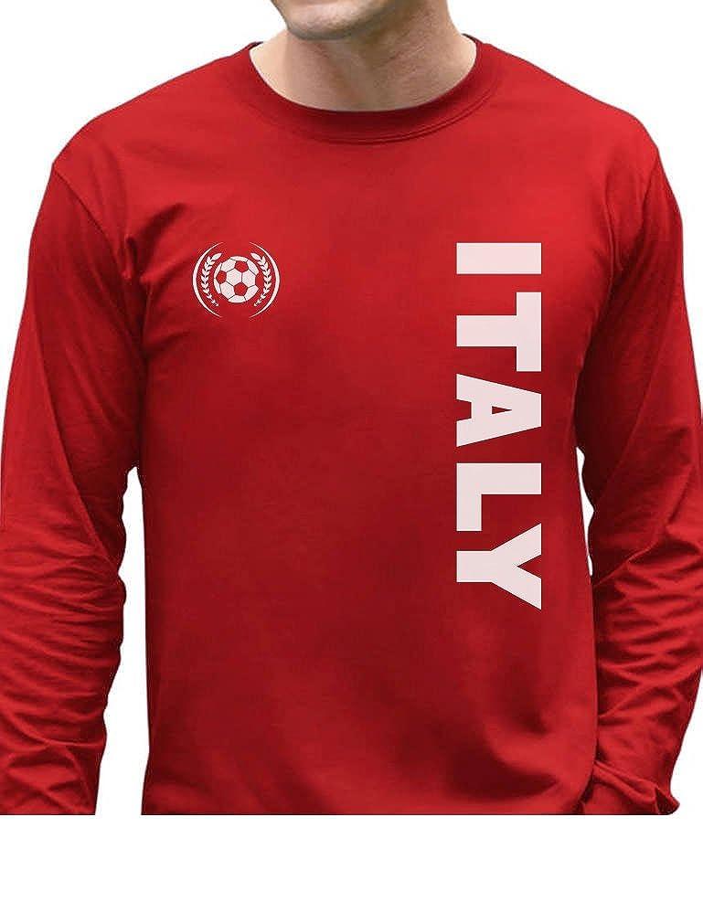 TeeStars - Italy National Football Team Soccer Fans Long Sleeve T-Shirt GhPhta3gC