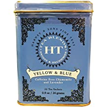 Harney & Sons Master Yellow & Blue Tea Tin - Herbal Blend of Chamomile, Lavender, and Cornflowers - 0.9 Ounces, 20 Sachets