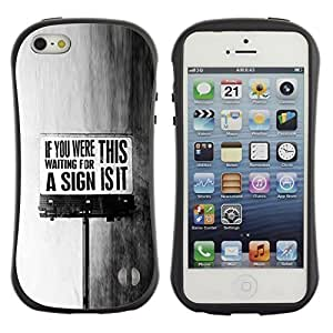 "Hypernova Slim Fit Dual Barniz Protector Caso Case Funda Para Apple iPhone SE / iPhone 5 / iPhone 5S [This Is It sesión Negro Mensaje Texto blanco""]"