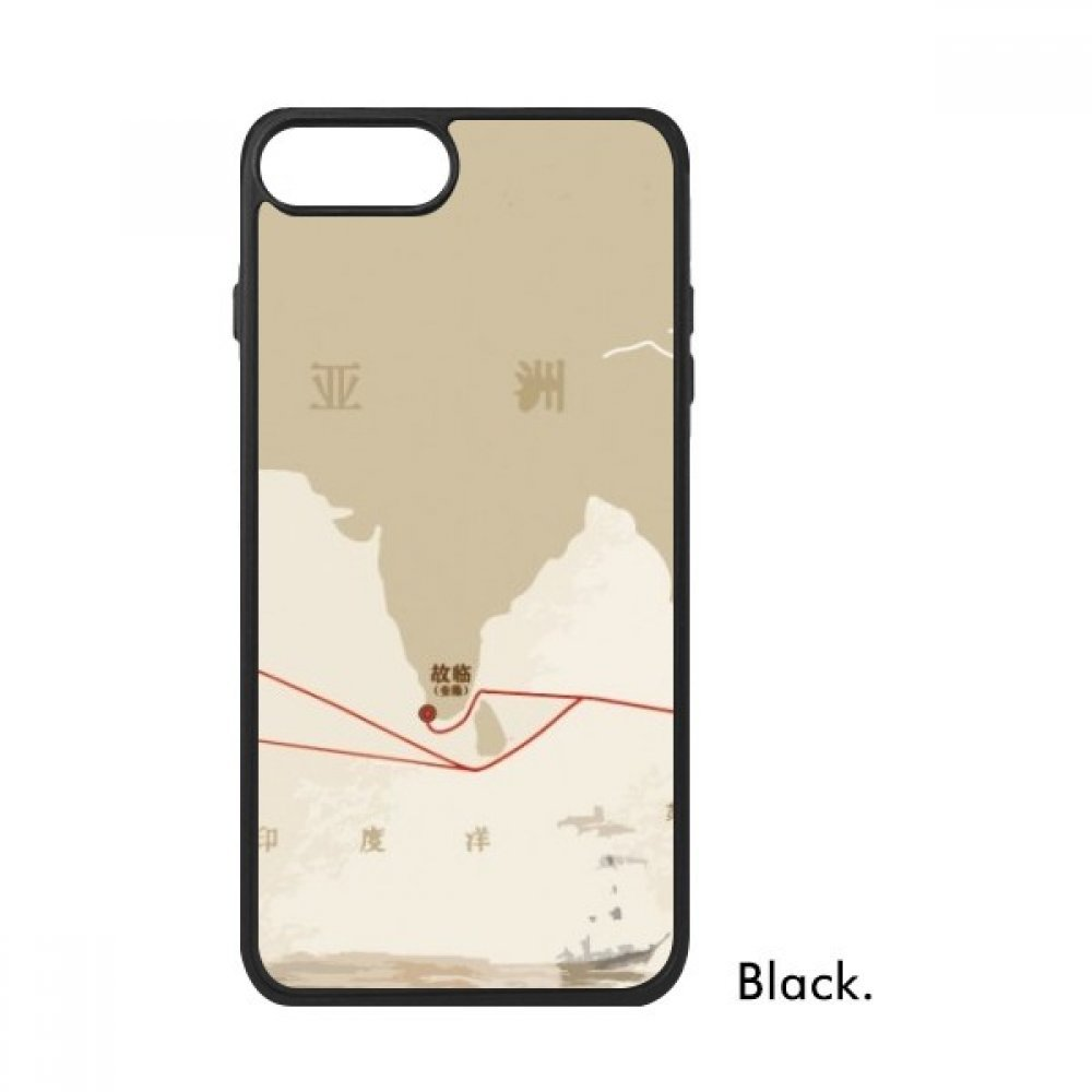 17c3159c46176 Amazon.com: Along the Way to the Silk Road Map For iPhone 8/8 Plus Cases  Phonecase Apple Cover Case Gift: Cell Phones & Accessories