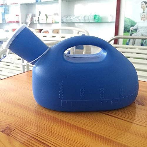 便器 便器男性便器大容量消臭シールカバー漏れ防止2リットルアダルトポータブル便器看護、観光、長距離運転ブルー ユニセックス便器