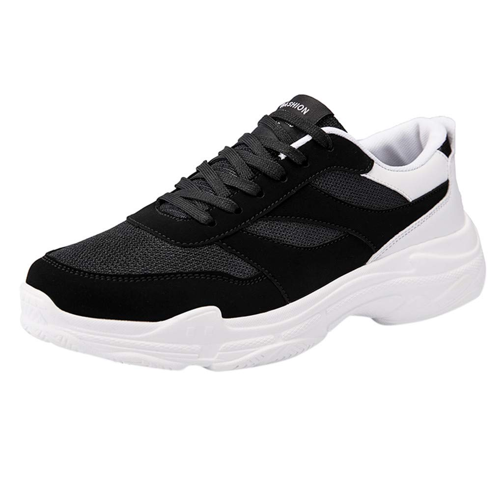 Men Running Sneakers - A08 Fashion Wild Casual Thick Bottom Breathable Comfy Large Size Lace-up Sports Shoes