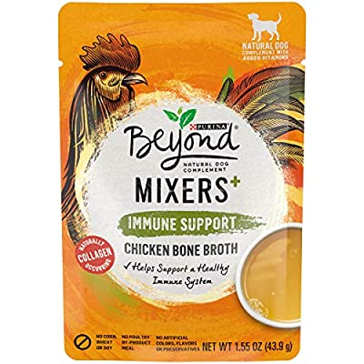 Purina Beyond Limited Ingredient, Natural Wet Dog Food Complement, Mixers+ Immune Support Chicken Bone Broth - (16) 1.55 oz. Pouches