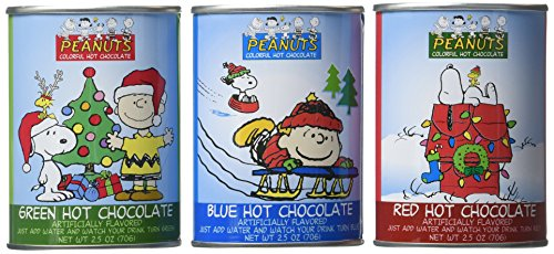 278884 Snoopy Colorful Hot Chocolate 3 Piece Gift Set Peanuts Good Grief Cafe 7.5 oz