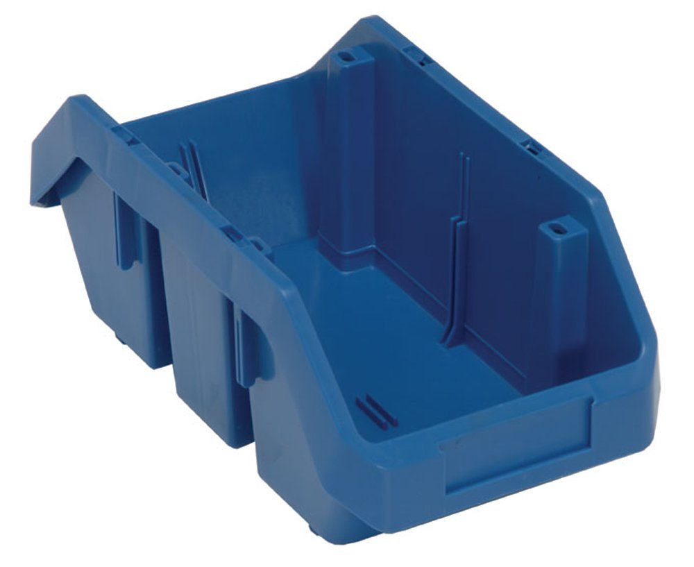 Quantum Storage Systems Cross-Stacking Bin, 12-1/2 in. L, Blue by Quantum Storage Systems