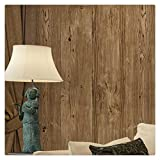 HaokHome 0204 Vintage Woods Plank Wallpaper Roll Brown 3D Tree Realistic Wall Murals Room Home Decoration 20.8'' x 393.7''