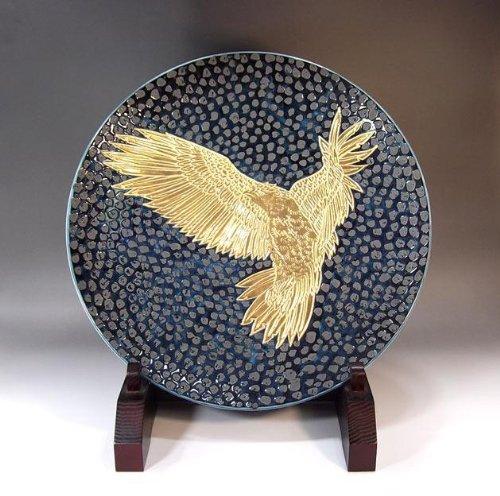 Arita - Imari | pottery ornaments Sarah Kazarisara - platter | gifts | Gifts | souvenir | gift | hawk picture Fujii NishikiAya - Imari Large Platter
