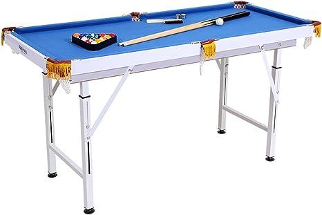 Plegable – billar 140 cm x 63 cm x (59 – 85) cm Mesa de billar mesa de