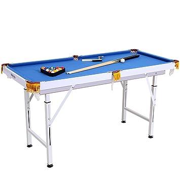 Plegable - billar 140 cm x 63 cm x (59 - 85) cm Mesa de billar mesa de