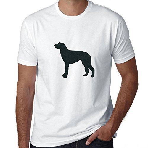 (Hollywood Thread Scottish Deerhound Dog Simple Silhouette 100% Men's Cotton T-Shirt)