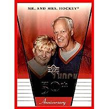 2002-03 Upper Deck Rookie Update #50 Gordie Howe RIP HOF DETROIT RED WINGS Colleen Howe 50th Wedding Anniversary