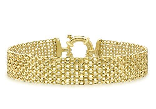 "Bracelet Or jaune 9carats Bismark 19cm/7,5"""