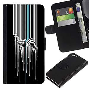 All Phone Most Case / Oferta Especial Cáscara Funda de cuero Monedero Cubierta de proteccion Caso / Wallet Case for Apple Iphone 6 // Color Zebra Pattern